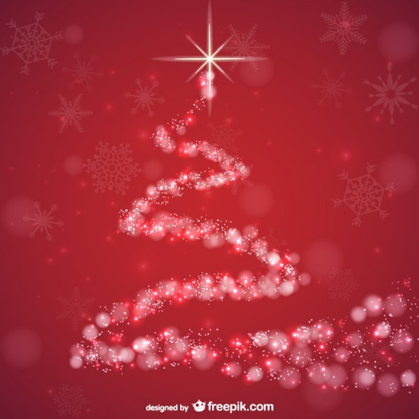 Abstract Red Background for Christmas Free Vector