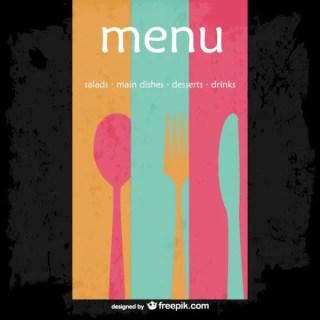 Abstract Restaurant Menu Free Vector