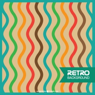 Abstract Retro Wavy Lines Free Vector