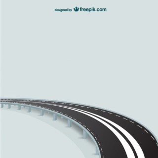 Abstract Road Template Free Vector