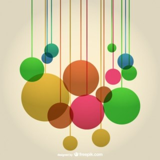 Abstract Round Shapes Composition Background Free Vector