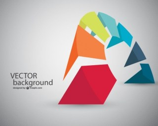 Abstract Shapes Background Free Vector