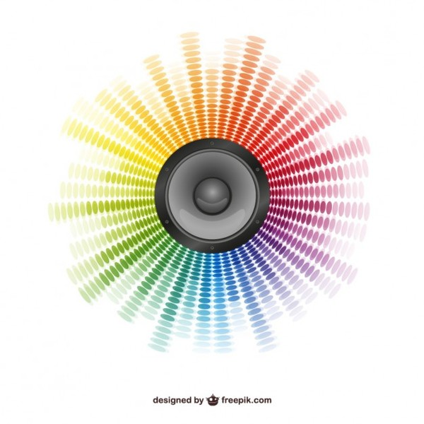 Abstract Speaker Background Free Vector