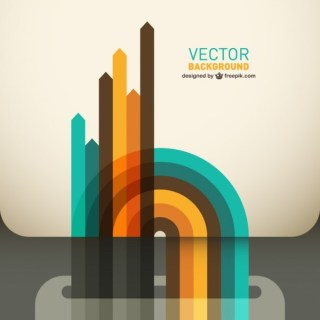 Abstract Style Arrows Background Free Vector