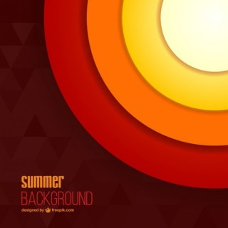 Abstract Summer Sun Background Free Vector