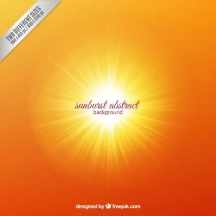 Abstract Sunburst Background Free Vector