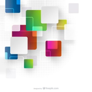 Abstract Techno Squares Background Free Vector