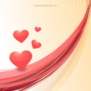 Abstract Valentine Background with Hearts Free Vector