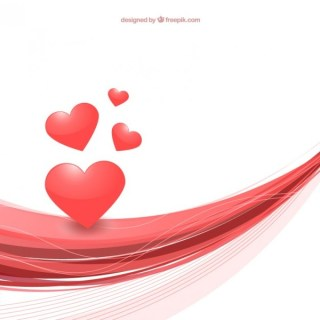 Abstract Valentines Day Background with Hearts Free Vector