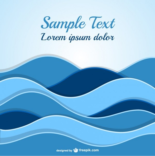 Abstract Waves Template Free Vector