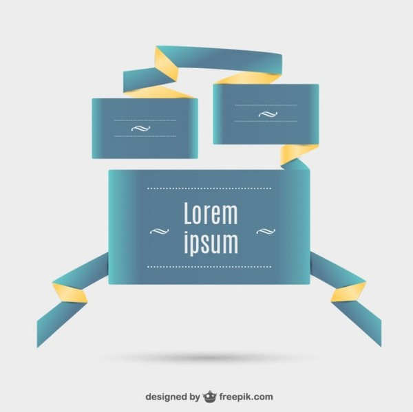 Abstract Web Design Elements Free Vector