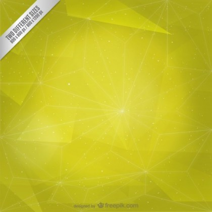 Abstract Yellow Polygonal Background Free Vector