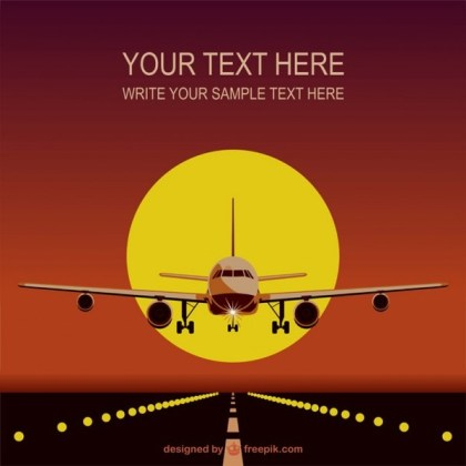 Airplane Template Free Download Free Vector