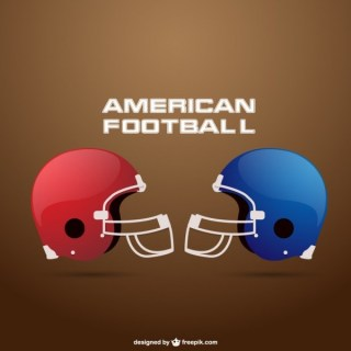 American Football Equipment Free Vector