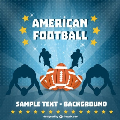 American Football Players Background Free Vector