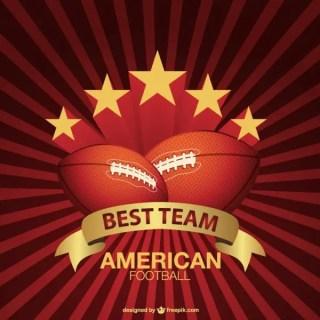 American Football Sunburst Background Free Vector