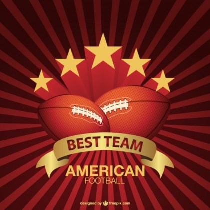 American Football Sunburst Background Free Vector