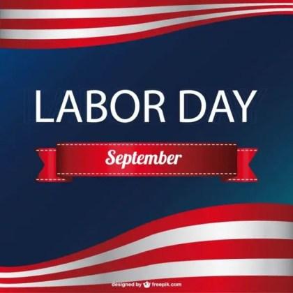 American Labor's Day Free Vector