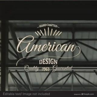 American Retro Stamp Free Vector