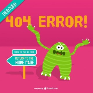 Angry Monster 404 Error Background Free Vector