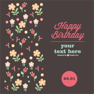 Anniversary Floral Card Free Vector