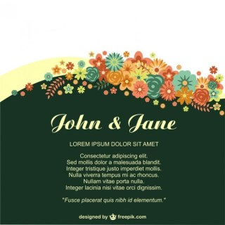 Anniversary Floral Invitation for Life Events Free Vector