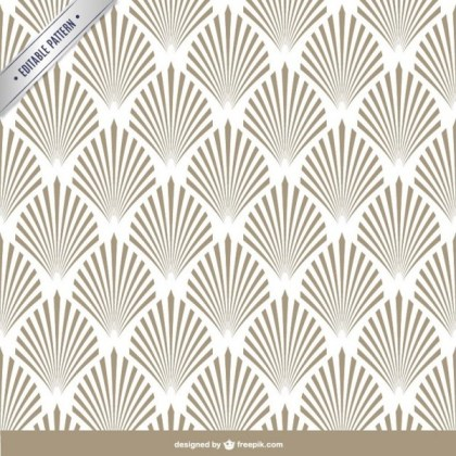 Arabesque Editable Pattern Free Vector