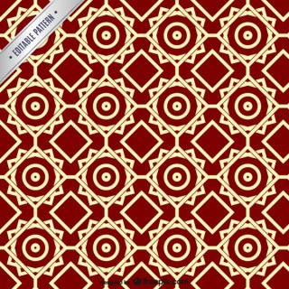 Arabesque Ornamental Pattern Free Vector
