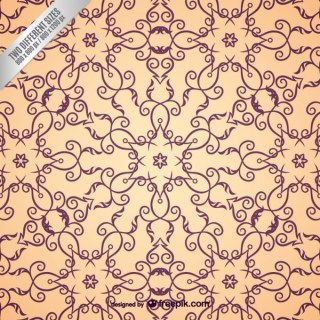 Arabic Ornamental Pattern Free Vector