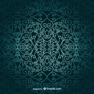 Arabic Ornamental Wallpaper Free Vector