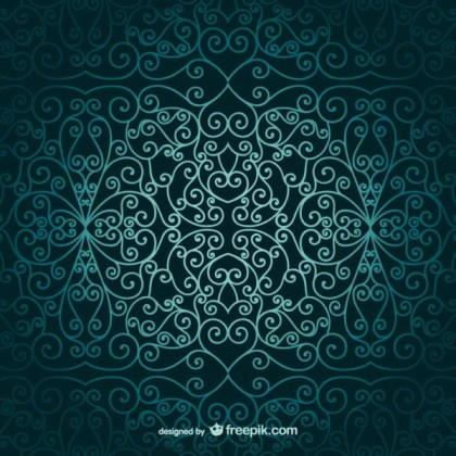 Arabic Ornamental Wallpaper Free Vector