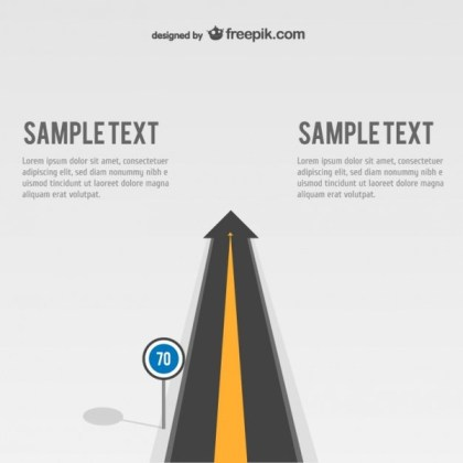 Arrow Road Template Free Vector