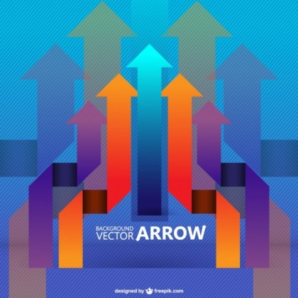 Arrows Retro Background Free Vector