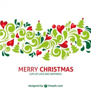 Artistic Merry Christmas Background Free Vector