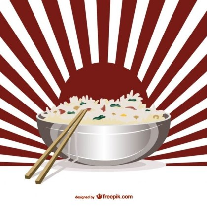 Asian Food Art Free Vector