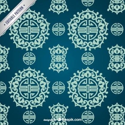 Asian Ornamental Pattern Free Vector