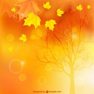 Autumn Landscape Background Free Vector