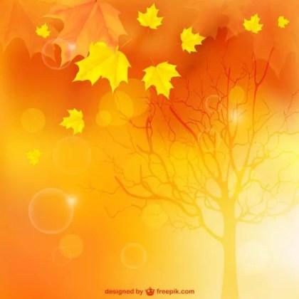 Autumn Landscape Background Free Vector