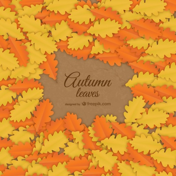 Autumn Leaves Background Free Vector