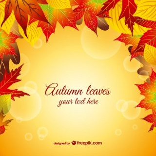 Autumn Leaves Graphic Free Vector