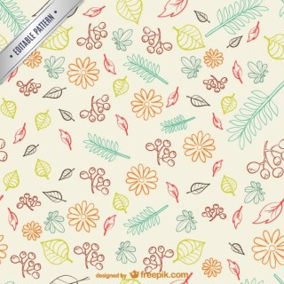 Autumn Leaves Pattern Free Vector