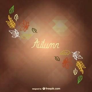 Autumn Minimalist Background Free Vector