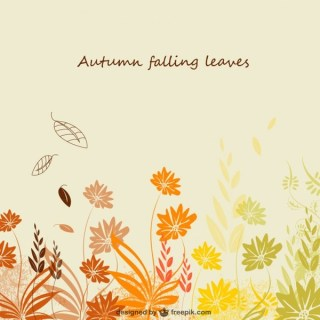 Autumn Template Free Vector