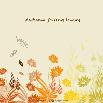 Autumn Template Free Vector