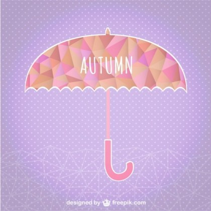 Autumn Umbrella Geometric Template Free Vector
