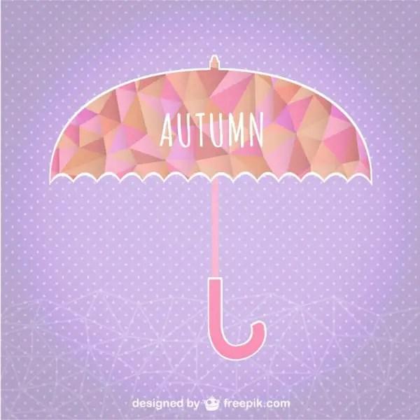 Autumn Umbrella Geometric Template Free Vector