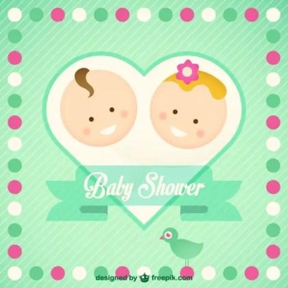 Baby Card Design Free Vector