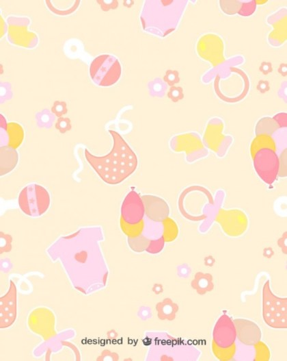 Baby Seamless Patterns Free Vector