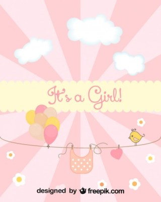 Baby Shower Card Free Vector