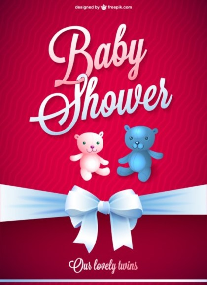 Baby Shower Free Card Free Vector